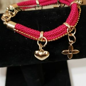 Jewelry - 3 for 10 Gold plated bracelets with charms